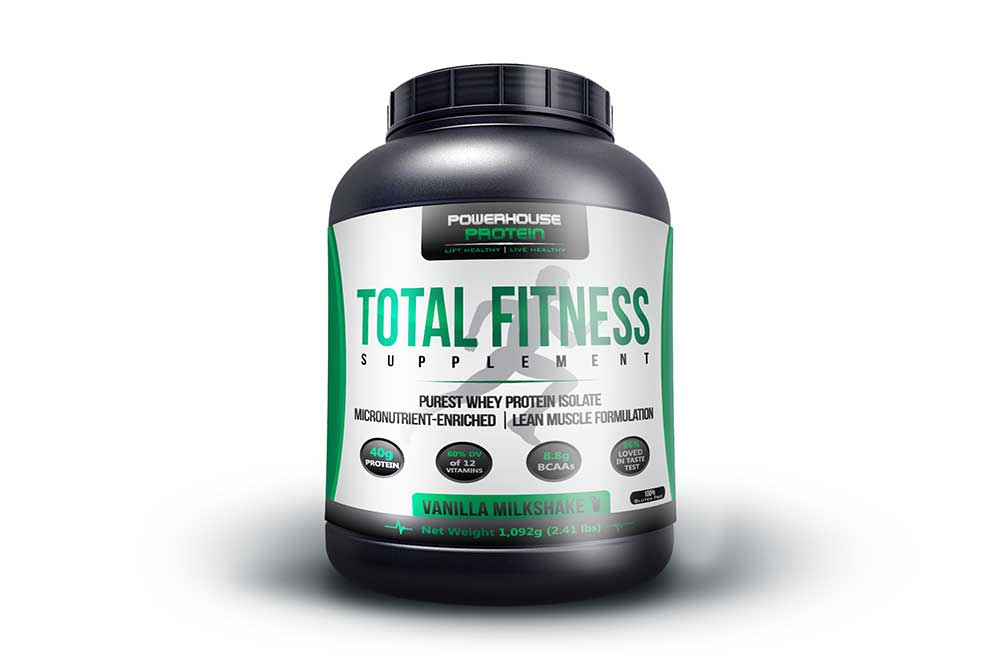 protein supplement bucket mockup