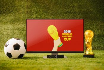 Free World Football Cup Plus TV Mockup