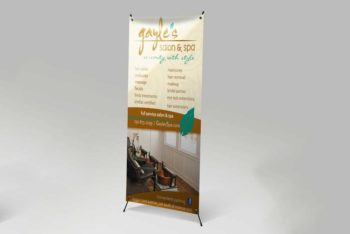 X Stand Banner Mockup in PSD