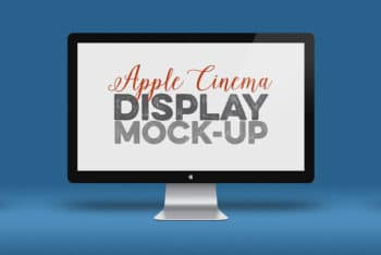 Free Apple Screen Cinema Display Mockup in PSD