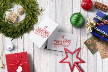 Free Christmas Season Hero Image Mockup in PSD