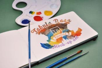 Free Tabula Rasa Painting Design Mockup in PSD