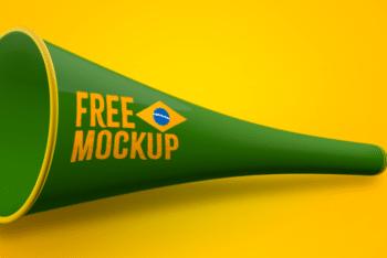 Free Soccer Celebration Tools Mockup in PSD