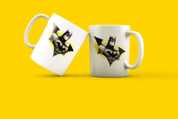 Super Mug Design PSD Mockup
