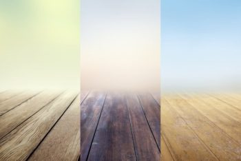 Free Infinite Wooden Floors Mockup in PSD