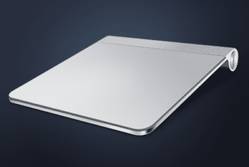 Free Metallic Apple Trackpad Design Mockup in PSD