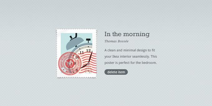Stamp Poster Design