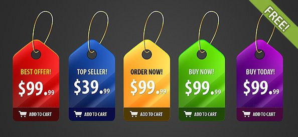 Shiny Price Badges Design