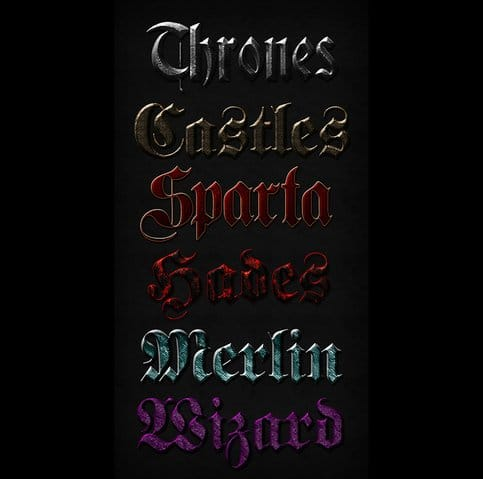 Medieval Text Effect Designs