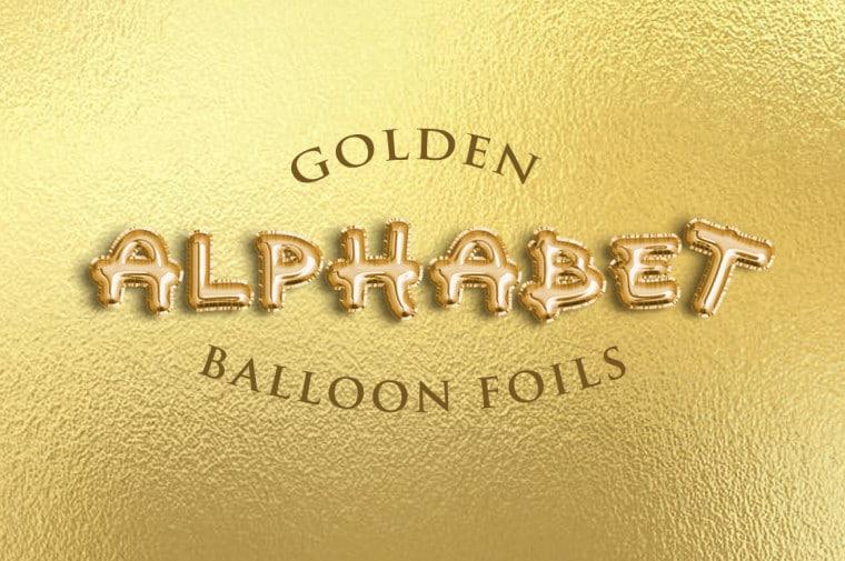Alphabet Balloon Foils Text