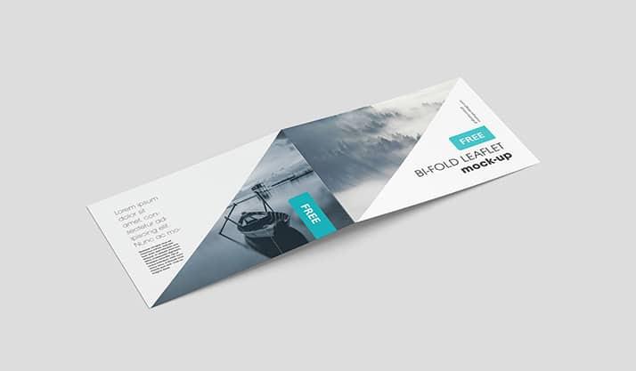 Horizontal Folding Leaflet