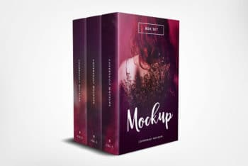 Book Box Set PSD Template Available for Free