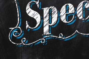 Free Chalkboard Text Effect Design Mockup in PSD