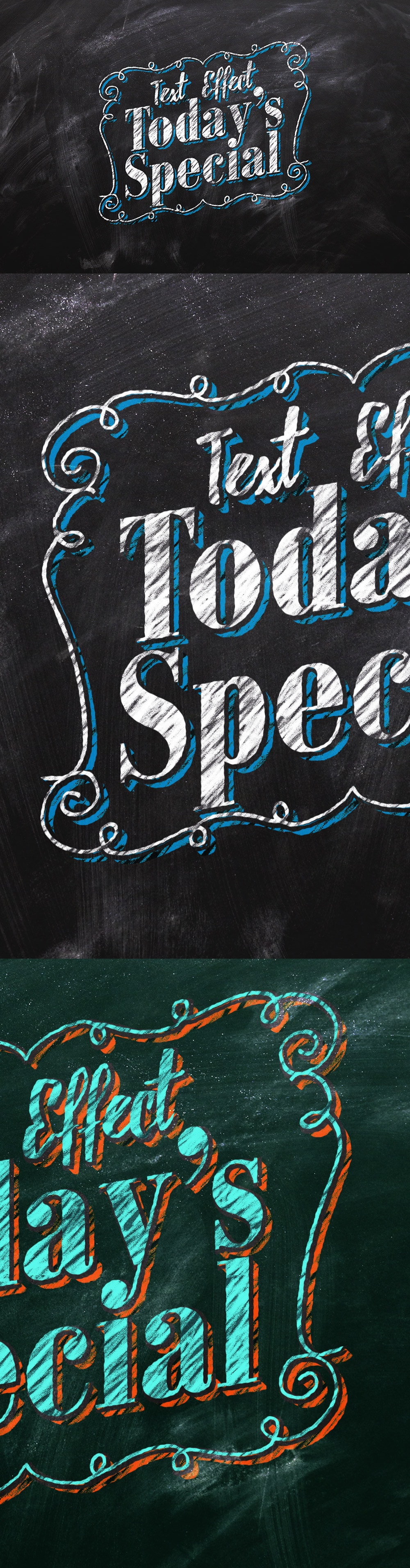 Chalkboard Text Effect Design