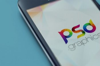 Free Phone Screen Closeup Design Mockup in PSD