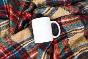 Free Plain Cozy Mug Design Mockup in PSD