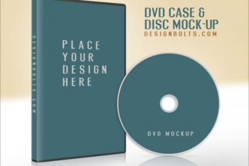 Free DVD Plus Case Cover Mockup in PSD