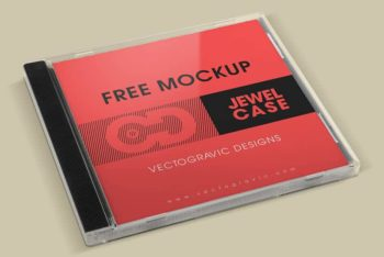 Fully Customizable CD Jewel Case PSD Mockup
