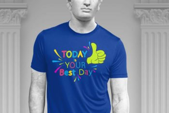 Exclusive T-shirt Design PSD Mockup – Fashionable Look & Useful Features