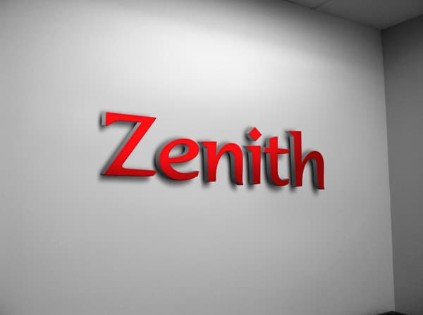 3D Office Wall Signage Logo