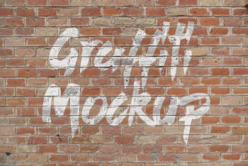 Free Graffiti Logo Plus Brick Wall Mockup in PSD