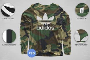 Free Cool Modern Longsleeve Shirt Mockup in PSD