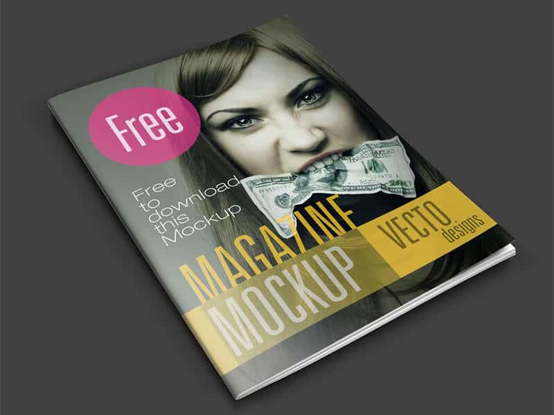 magazine psd template mockup design