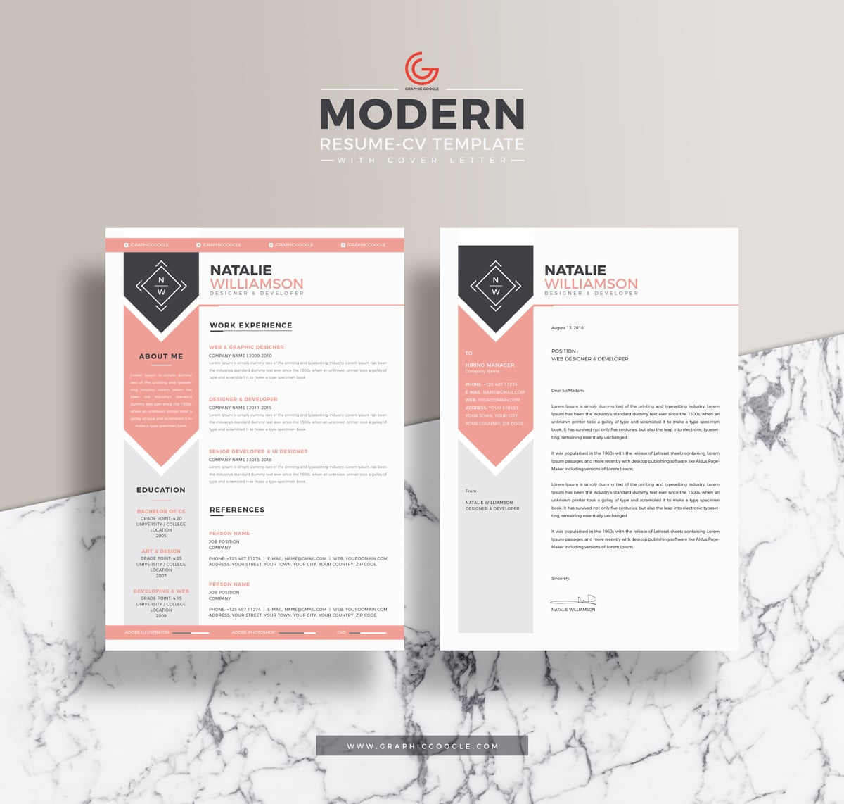 Resume PSD Mockup Available For Free