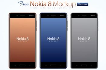 Free Nokia Android Smartphone Model Mockup in PSD