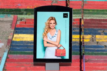 Free Poster Billboard PSD Mockup for Outdoor Advertisement