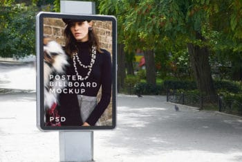 Outdoor Billboard PSD Mockup Available For Free