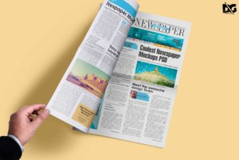 Newspaper Design PSD Mockup Available For Free