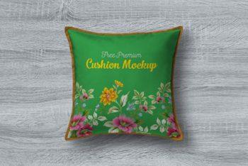 Free Premium Cushion Pillow Mockup in PSD