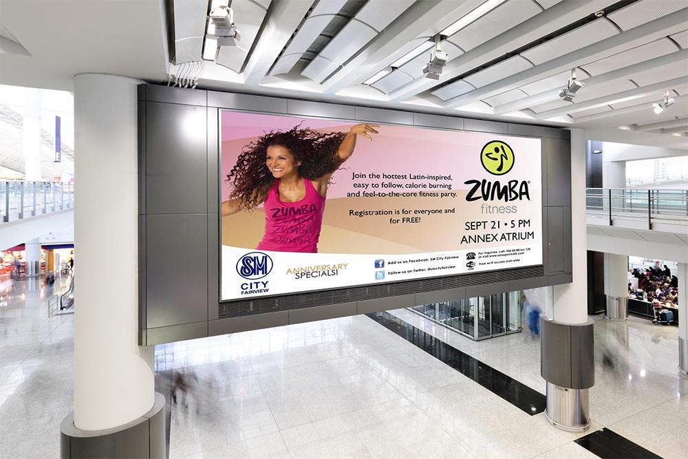 free shopping mall digital ad mockup