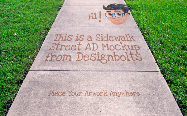 Sidewalk Street Advertising