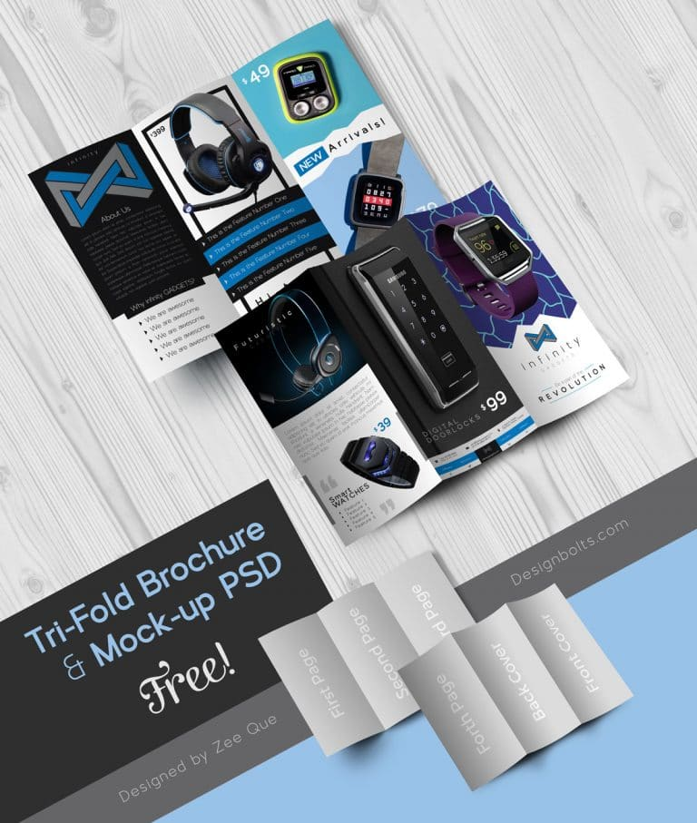 Tech Gadgets Brochure Design