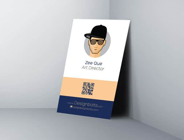 Hip Vertical Business Card