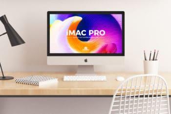 Awesome iMac Pro PSD Mockup