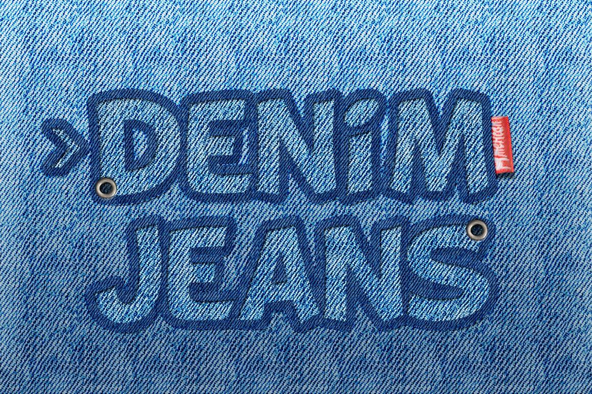 Denim Jeans Text Logo