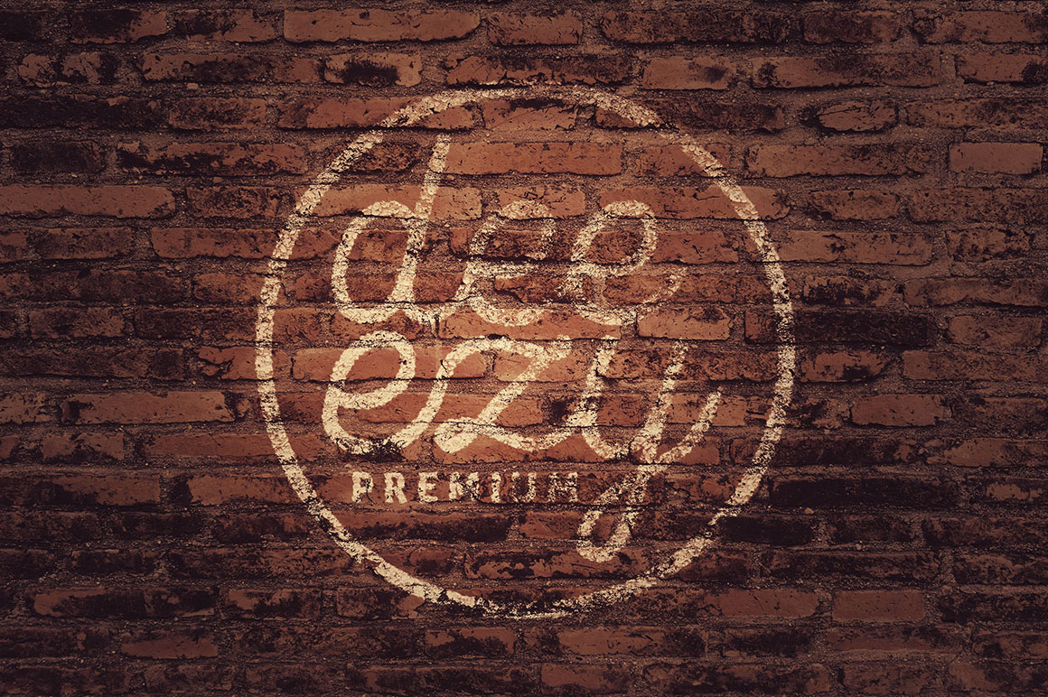 Vintage Logo Plus Brick Wall