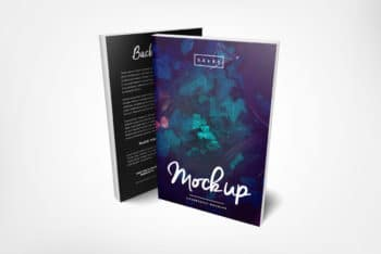 Beautiful Paperback Book PSD Mockup Available With Front & Back View