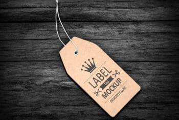 Apparel Label Tag PSD Mockup Available For Free
