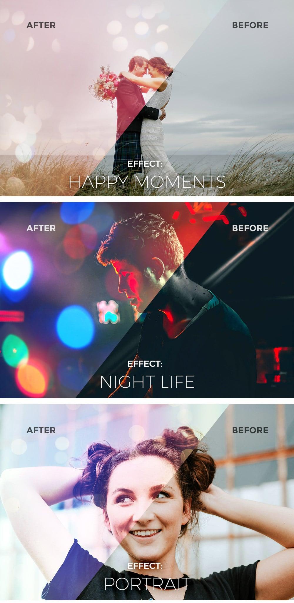 Light Plus Bokeh Photo Effects