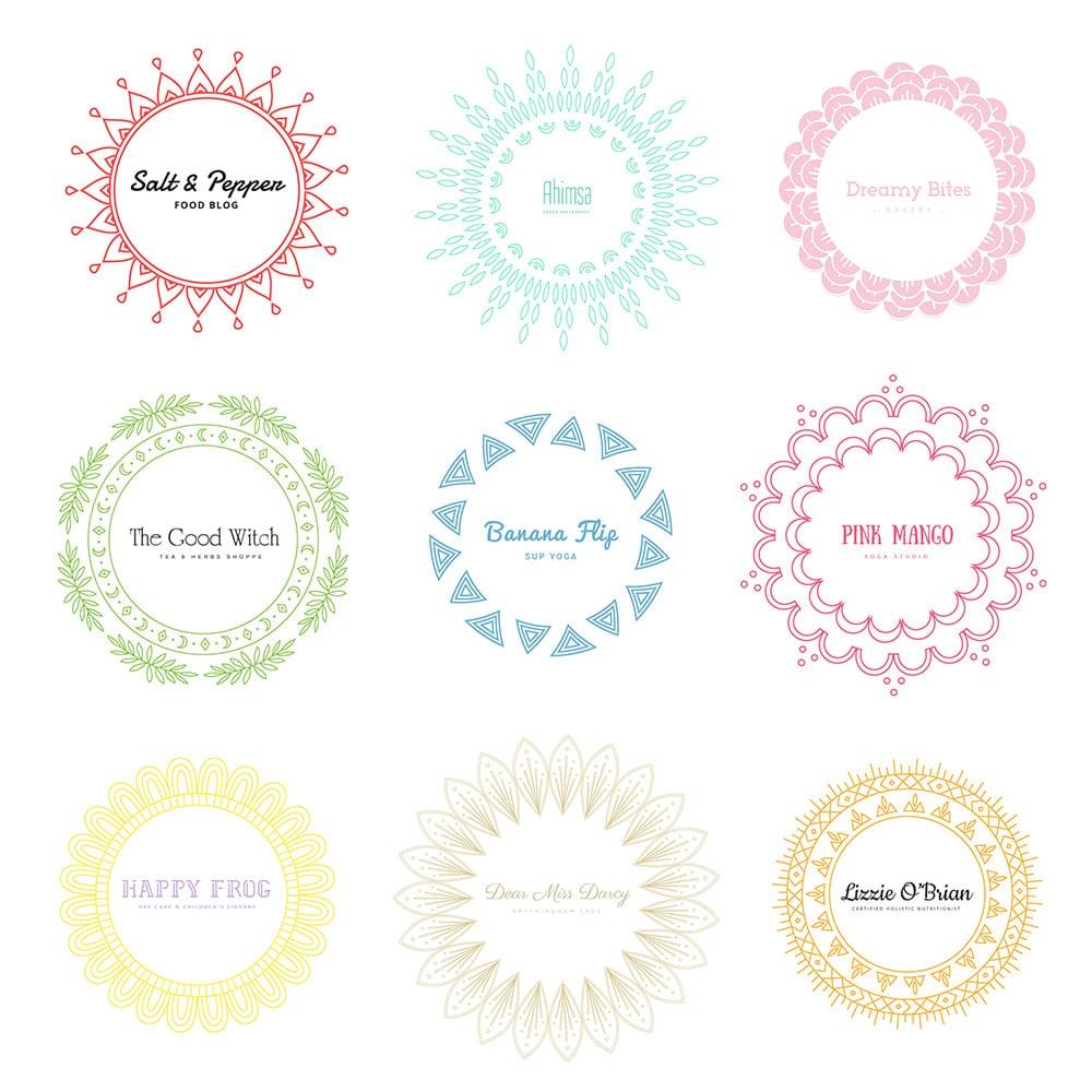 Beautiful Mandala Logos Design