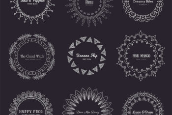 Free Beautiful Mandala Logos Design Mockup in PSD