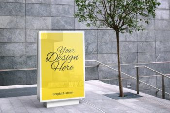 Roadside Billboard PSD Mockup for Outdoor Advertisement