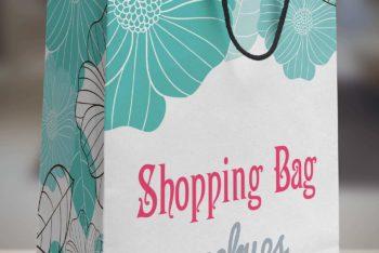 Wonderful Paper Shopping Bag PSD Mockup