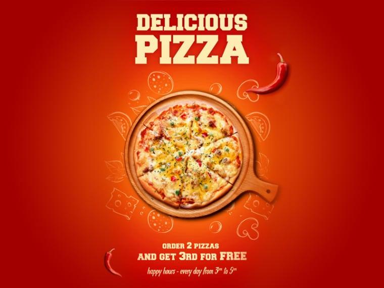 Delicious Pizza Poster Design