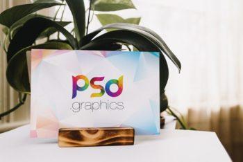 Free Landscape Placard Design Mockup in PSD