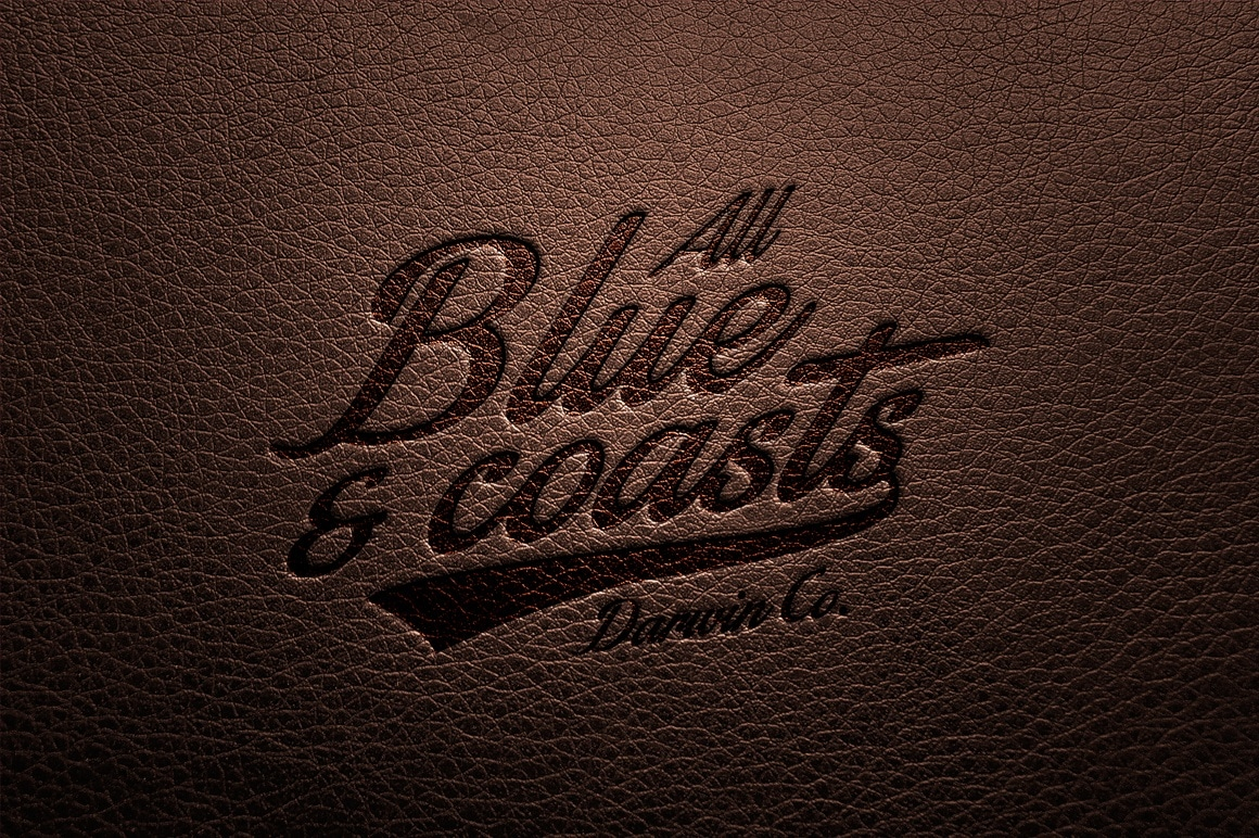 free leather engraved logo design mockup in psd designhooks leather engraved logo design mockup